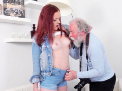 old goes young – sweet babe obeys old photographer who tells