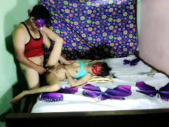 Very hot indian Desi sexy bhabhi acting as young girl