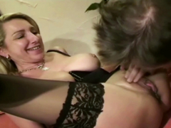 German Mother Jenny and MILF Sister in Amateur FFM Threesome