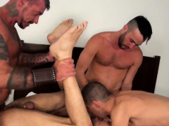 Hairy wolf cumcovered and anally slammed