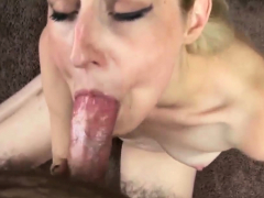 Slender blonde Adriana Jones makes her first porn video and