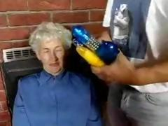 Hairy Granny Loves Dildos