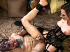 Blonde pegging a guy