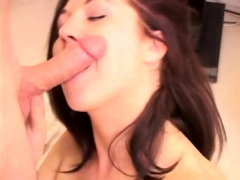 Cute Brunette Michelle Sucks And Fucks Martin's Cock