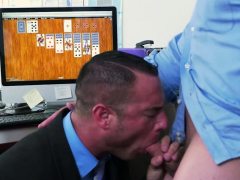 Gay hardcore THREESOME with two HUNKS and one THICK DILDO