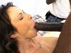 Big Tit Brunette Blows Black Boners