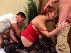 Redheaded Marianne is a fan of threesomes