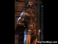 3D Muscle Men with Big Dicks