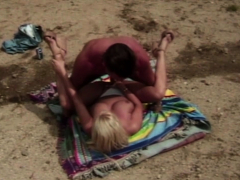 Blonde Mom Outdoor Sex Fun With Young Stud