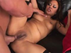 Horny Asian Stepdaughter Annie Cruz Fucks DVD Salesman