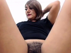 beautiful-hairy-red-bush-masturbate