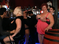 chubby party girls getting naked in the bbw bar