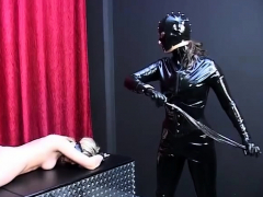 Submissive Satines spanking and lesbian bdsm
