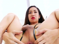 Ladyboy Tanny Loves Playing With A Toy