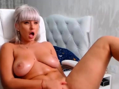 massive boobs have solo masturbation Striptease
