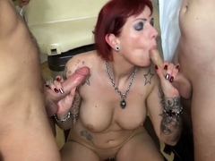 doctor-seduce-german-redhead-mature-to-threesome-at-practice