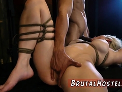 Slave Play And Rough Anal Strap On Crying First Time