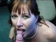 Redhead Milf Happily Takes A Facial.
