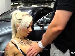 Sex beim ersten Date im Parkhaus mit Mega Cumshot