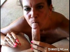 Hot Busty Mature Cougar Smoking BJ-POV