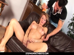 Sexy Hot Stepmom Gives Son A Taste Of Her Pussy