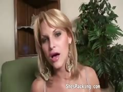 Busty Shemale Getting Anallized On Bed