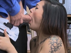 Teen Asian Thief Meets Officer Dick In Close Up