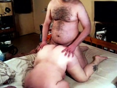 Enormous busty BBW is doggystyle fucked