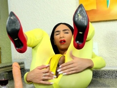 TS Yasmin Dornelles Strokes Monster Cock