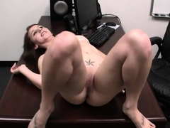 Cute Teen Gabrielle Face Fucks Cock And Gets Pounded