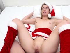 Hardcore and creampie with a horny blonde