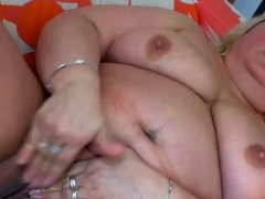 experienced fatty has a huge clit