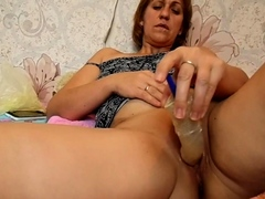 redhead-mom-uses-a-sex-toy-on-herself