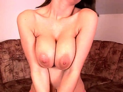 asian bitch striptease and toying cunt with massive dildo Striptease