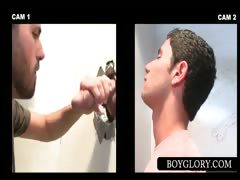 Gay Blowjob On Gloryhole With Straight Dude