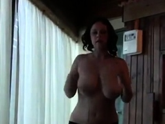 Busty Babe Jumping Rope Topless