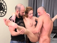 Skint boyfriend allows randy mate to poke his gf for 77iDK