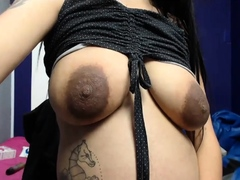 horny petite pregnant latina with milky big tits