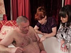 british-cfnm-dommes-humiliate-tiny-dick-subject