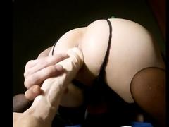 riding huge dildo anal