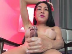 Amazing Ladyboy Thippy69 Cumshot on Webcam Part 3
