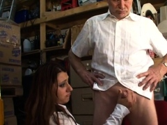 CFNM british babes tugging small mature penis