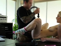 Great looking barely legal maiden gets orgasm