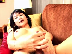 Teen Ladyboy Peem Masturbates And Ass Fucked