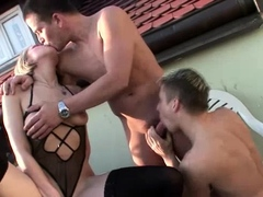 We have these horny bisexuals as they play with a sex toy