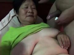 70 Asian Granny enjoy