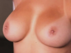 Teen showing her massive natural boobs