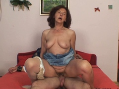 Old girlfriends mother sucking and riding his cock
