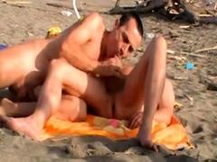 gay fuck on the beach