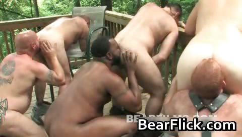 Gay bear orgy in the cabin